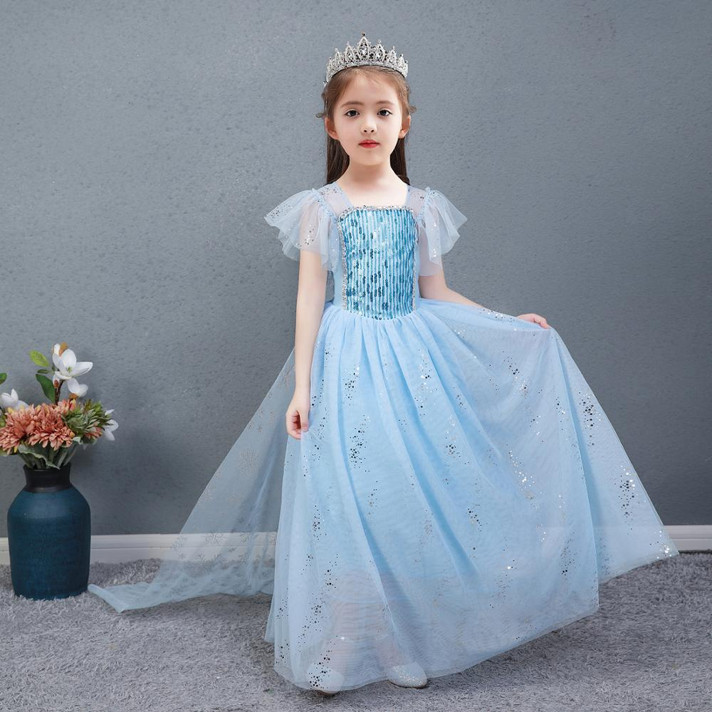 AngelGirl Elegant Girls Princess Dress Princess Theme Party Dresses Gown Xmas Cosplay Costumes for Birthday Halloween Chrismas 2