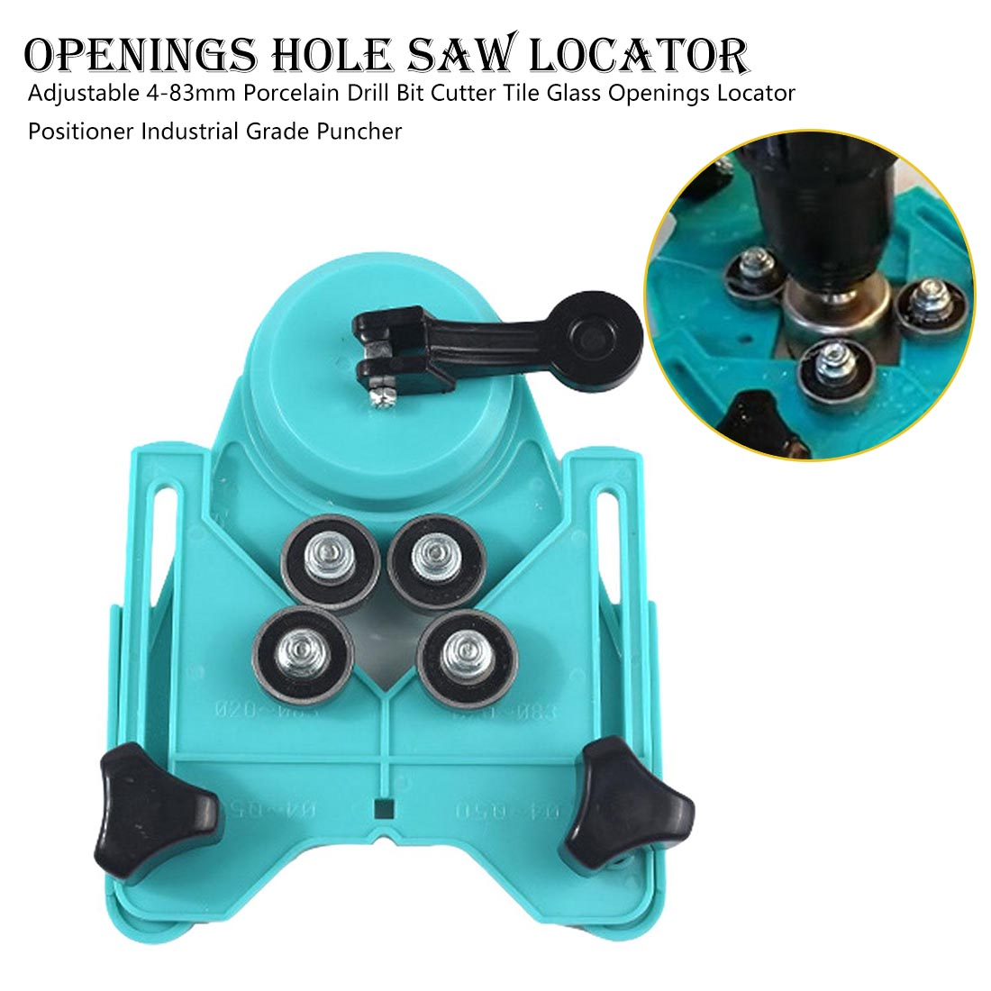 Adjustable 4-83mm Diamond Opening Drill Bit Tile Glass Hole Locator Saw Core Bit Guide Chuck Positioner Industrial Grade Puncher