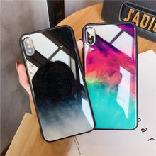 Applicable to iphone 8 plus mobile phone shell new iphoneXR XS 7plus glass protective cover anti-fall all-inclusive case