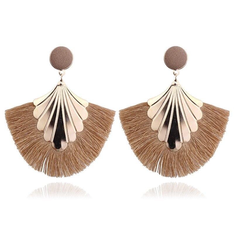 LATS 2020 Long Tassel Earrings for Women Big Fashion Statement Dangle Earring Bohemian Fringe Vintage Earring 1