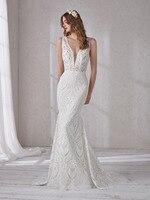 Eslieb Wedding dresses custom made lace boho wedding dress 2019 Cheap wedding dresses Vestido de Noiva SJ283