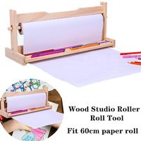 60cm Brown Kraft Wrapping Paper Roll Tool Studio Roller Long Roll Of Wood Frame Drawing Paper Studio Roller Scroll Of Paper