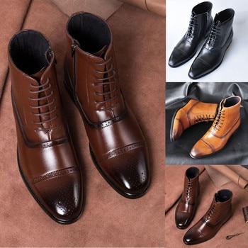 JAYCOSIN botas puntiagudas de moda para hombres botas de tubo alto transpirable con cremallera lateral al aire libre de malla transpirable botas casuales #45