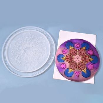 DIY Tarot Astrology Astrolabe Tray Ornaments Silicone Mould Crafts Decoration Making Tool Crystal Epoxy Resin Mold image