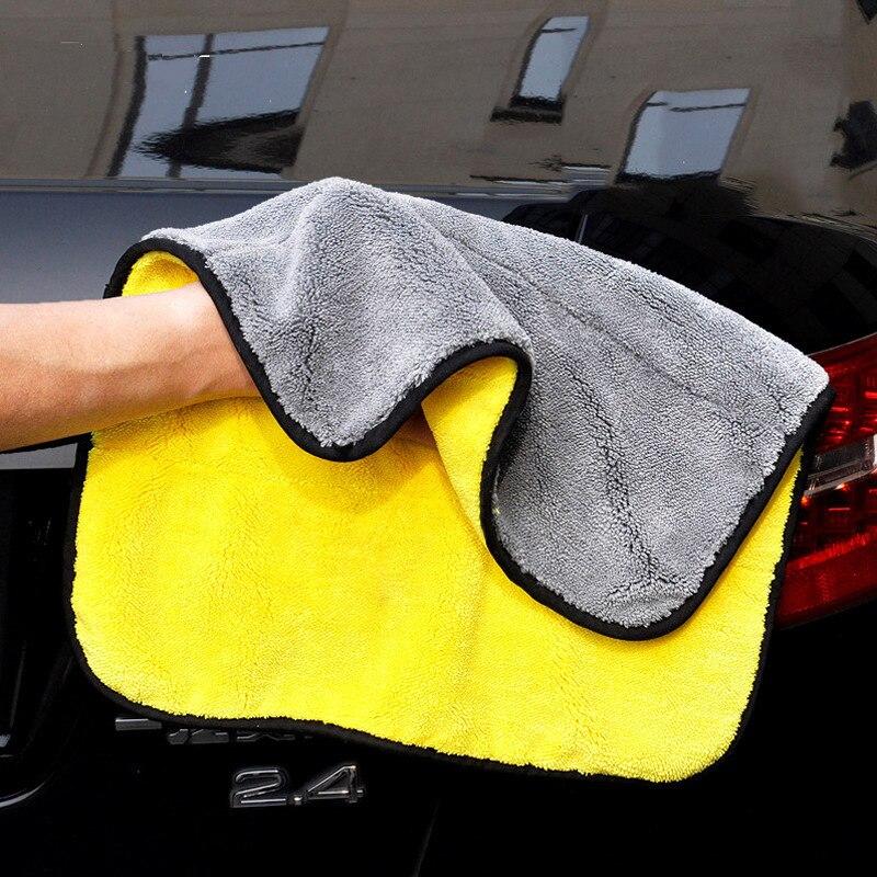 Горячая Распродажа утолщенное полотенце для чистки автомобиля микрофибра Коралловая бархатная ткань двухстороннее полотенце высокой пло...