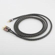 Аудиокабель 2020 мм на rca 2 штекера кабель aux 35 4 n ofc стереокабель