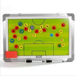 Магнитная футбольная тактическая доска из алюминиевого сплава для инструктора, доска для тренера, подвесная футбольная тактическая доска