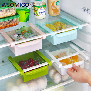 1pcs Kitchen Accessories Refrigerator Separator Shelf Layered Fresh Vegetables & Fruits Easy To Disassemble Kitchen Gadgets-S