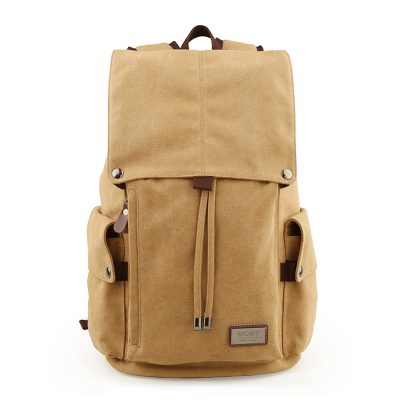 TANGHAO Vintage Canvas Backpack Unisex Casual College Bag Hiking Bag 15.6-inch Laptop Business Backpack Canvas Rucksack