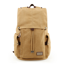 TANGHAO Vintage Canvas Backpack Unisex Casual College Bag Hi