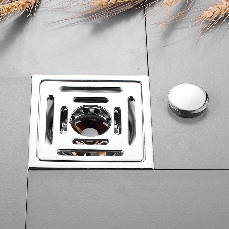 Floor Drain Stainless Steel Square Bathroom Shower Drainer Strainer Linear Covers Sink Linear Waste Grates Tile Insert