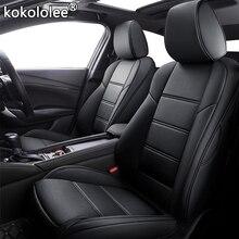 Kokololee الجلود المخصصة سيارة مقعد يغطي ل BMW 3/4 سلسلة E46 E90 E91 E92 E93 F30 F31 F34 F35 G20 G21 F32 F33 F36 مقاعد سيارات
