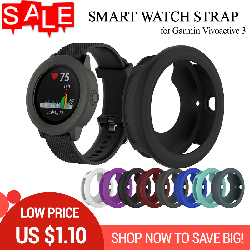 Silicone Protect Shell For Garmin Vivoactive 3 Protector Shell Diameter 45.4mm Colorful Smart Watch Protective Case Cover