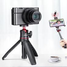Ulanzi MT 08 Extension de bureau trépied Kit vidéo Portable w micro poignée de lumière plate forme Selfie bâton pour Smartphone DSLR caméra