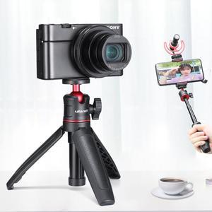 Image 1 - Ulanzi MT 08 سطح المكتب تمديد ترايبود المحمولة فيديو عدة ث Mic ضوء مقبض تلاعب Selfie عصا للهواتف الذكية DSLR كاميرا تسجيل الدخول