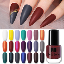 NEE JOLIE 3.5ml Nail Art Polish Matting Effect Pure Pink White Yellow Colorful Oily For DIY Beauty Tools