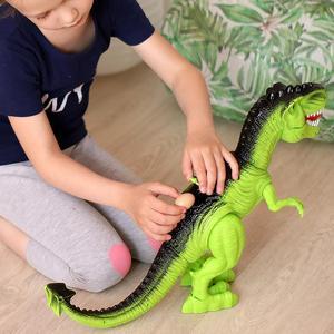 Image 4 - Jurassic parque grande dinossauro eletrônico brinquedos modelo para a criança brinquedo de som para o menino animal ovo ação jogar figura uma peça casa deco