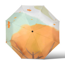 Folding Umbrella Sunscreen Anti-UV Waterproof Women Umbrellas Parasol Creative Fashion Simplicity