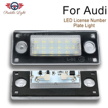 2Pcs Car LED License Number Plate Light Lamp For AUDI A4 S4 avant RS4 B5 A3 1998 1999 2000 2001 2002 2003