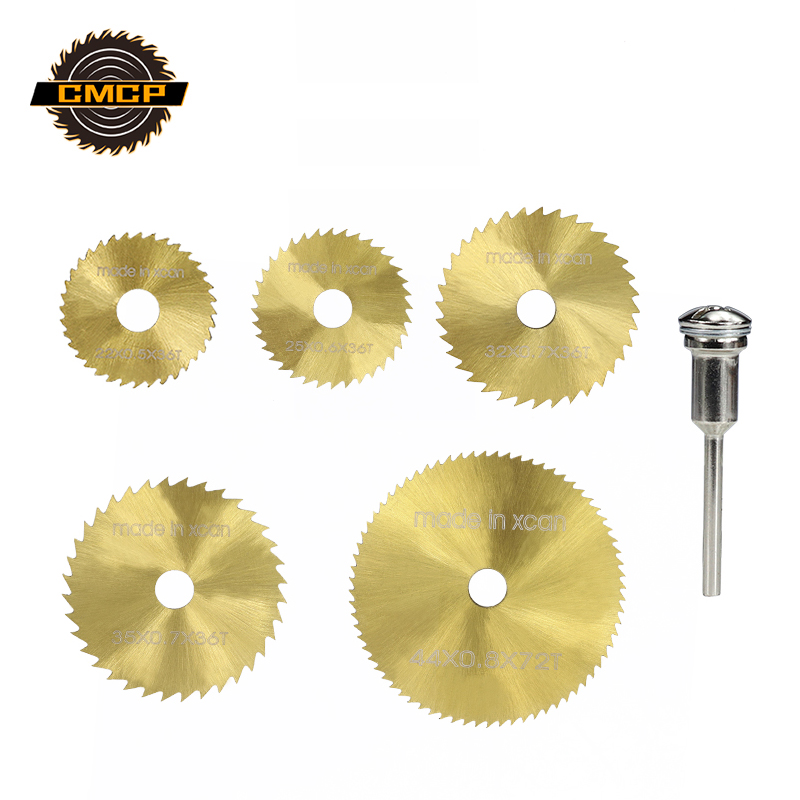 Wood Blade 1Set Mini Circular Saw Blades HSS Cutting Blade Titanium Coated Rotary Tools Cutting Disc For Wood