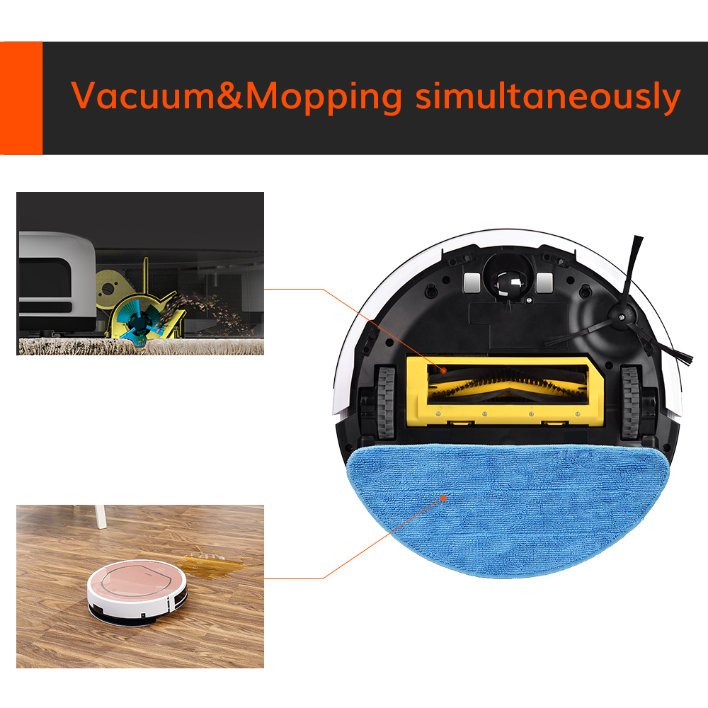 ILIFE V7s Plus Robot Vacuum Cleaner Sweep and Wet Mopping Disinfection For Hard Floors&Carpet Run 120mins Automatically Charge 6