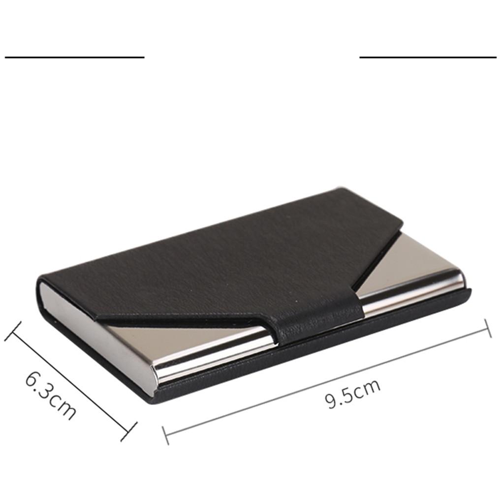 Unisex Credit Card Slim PU Case Bank Card Business Card Holder Wallet Package Professional Name ID Card Holder Porta Carte 823
