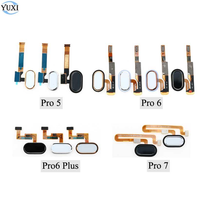 YuXi Back Home Button Key Fingerprint Sensor Flex Cable For Meizu Pro 5 6 Plus 6Plus 7 mobile phone Replacement Parts