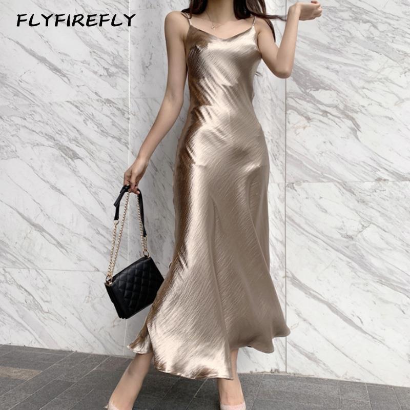 Summer maxi dress women sexy party dresses sleeveless vestidos elegant chiffon club dress streetwear long dresses gold 2021