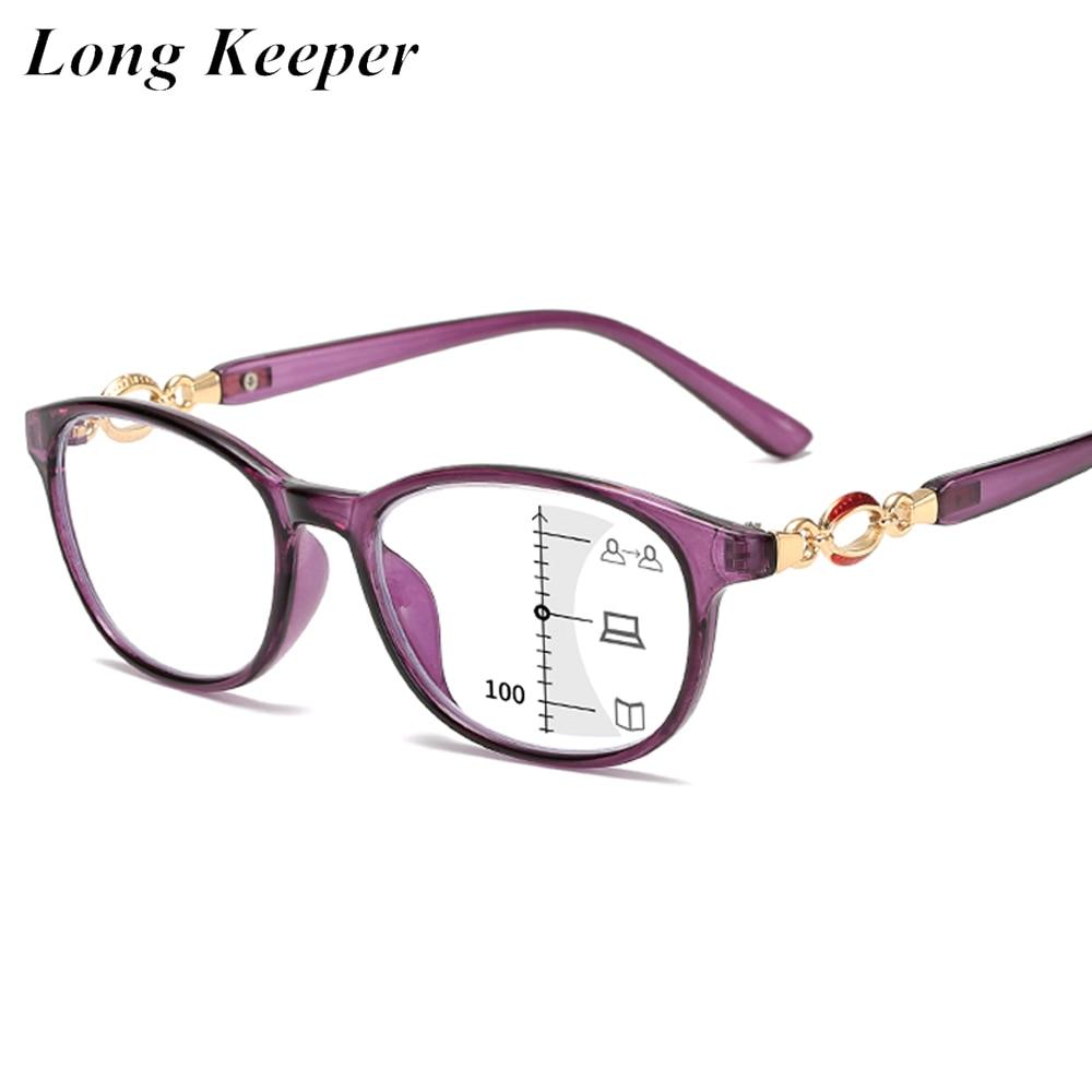 New Fashion occhiali da lettura multifocali progressivi donna occhiali da vista anti-blu occhiali da vista diottrie da 1,0 a 4.0 1