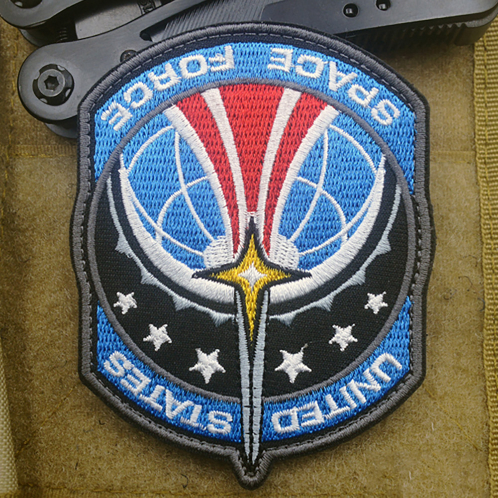 1pc Portable Reusable Space Force Embroidery Badge DIY Apparel Armband Clothes Backpack Hat Patch