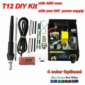 Image 1 - 2020 Electric Unit Digital Soldering Iron Station Temperature Controller Kits for HAKKO T12 Handle DIY kits LED vibration switch
