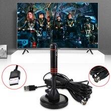 Antena telewizyjna o wysokiej mocy 22dB do telewizji DVB T/Tuner telewizyjny USB przenośna antena wewnętrzna/zewnętrzna/samochodowa cyfrowa telewizja HD ze wzmacniaczem
