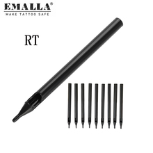 50PCS 3/5/7/9/11/13/14/15/18R Tattoo Tips Tubes Black Long Disposable For Accessories Needles Free Shipping