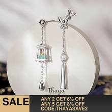 Thaya Genuine 925 Sterling Silver Tassels Green Lantern Earrings Eardrop Exquisite Earrings Dangle For Women Luxury Fine Jewelry(China)