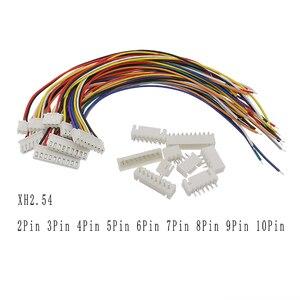 5/10Sets XH2.54 XH 2.54 JST Wire Connector 2P 3P 4P 5P 6P 7P 8P 9P 10Pin Plug XH 2.54mm Terminals Cable Socket Connectors 20CM(China)