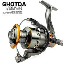 GHOTDA Spinning Fishing Reel 5.2:1 Ratio 13BB Ball Bearing 10KG Max Dray 1000-7000 Carretes De Pesca Para Mar