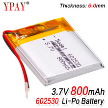 цена на 1/2/4 Pieces Lithium Ion Polymer 602530 Battery 3.7v 800mAh Lithium Battery For MP4 MP5 GPS PSP Smart Watch Driving Recorder