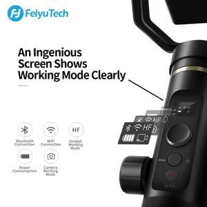Image 4 - FeiyuTech G6 Plus 3 osiowy ręczny stabilizator dla smartfonów Gopro Hero 7 6 5 Sony RX0 Samsung s8 800g ładunku Feiyu G6P
