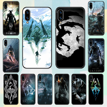 Game The Elder Scrolls Skyrim Phone case For Huawei Honor 6 7 8 9 10 10i 20 A C X Lite Pro Play black fashion coque luxury image
