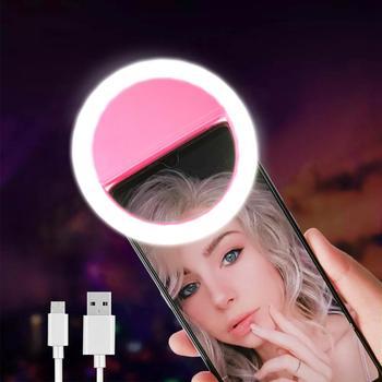 Led Selfie Ring Light Novelty Makeup Lightings Led Selfie Lamp Mobile Phones Photo Night Light Led Mirror Neon Sign Selfie Ring