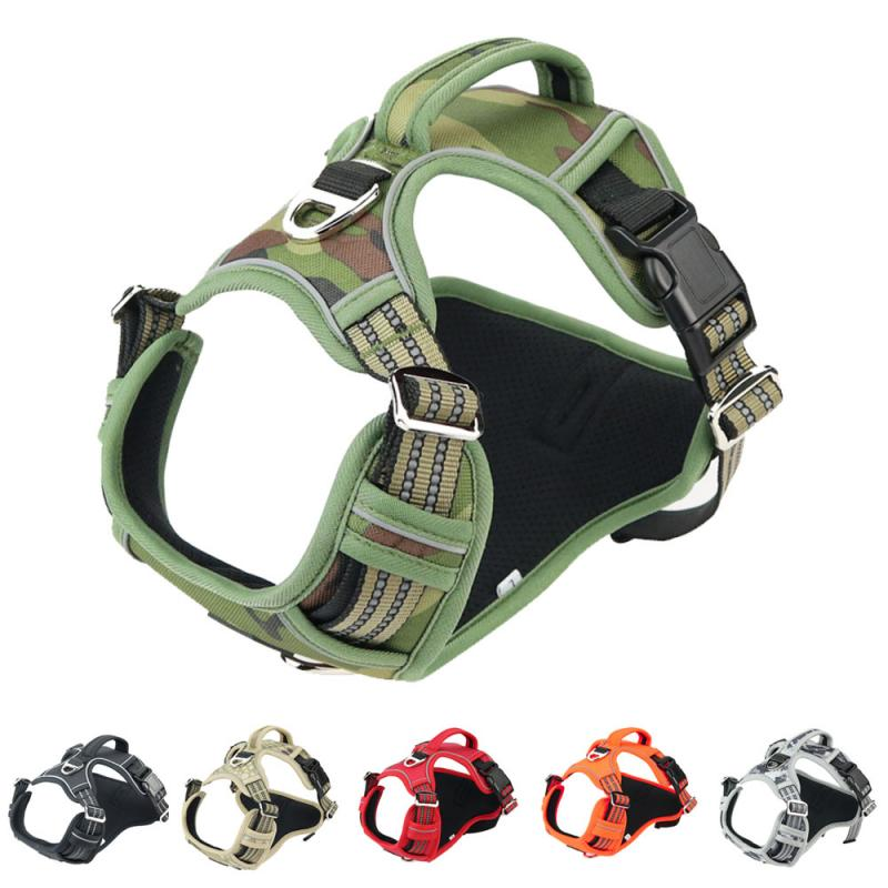 Dog Harness Reflective Pet Vest Doggy Adjustable Collars for Small Medium Large Dogs Puppy Supplies Chien Outdoor Accessories