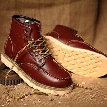 Plush Boots Men High Top Chaussure Homme British Martin Boot