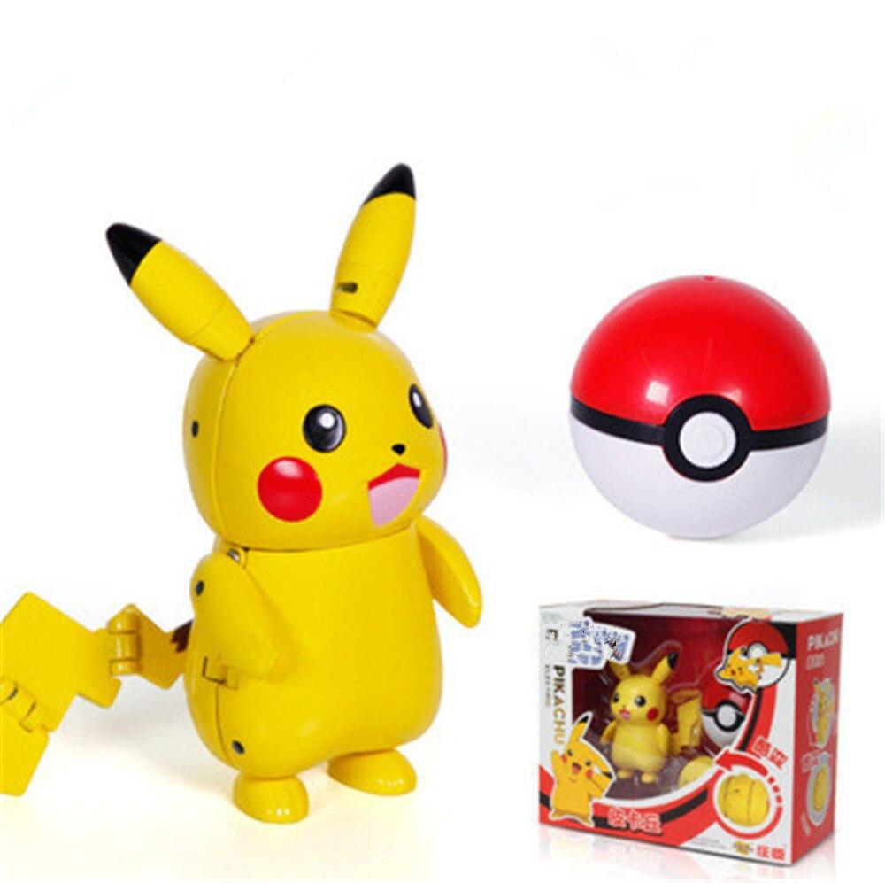 2019New Kawaii Deformation PikachuToys Cute Toy Cartoon Pikachu Baby Kids Toy Children Gift