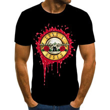 Новинка модная футболка в стиле панк с принтом guns n roses