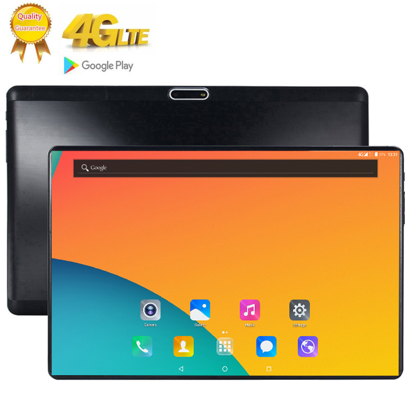 10.1 Inch 2.5D Glass Screen Tablet LTE 10 Core 8GB + 128GB ROM Dual SIM 13.0 MP GPS Android 9.0 Google IPS The Tablet Pc 4G Lte