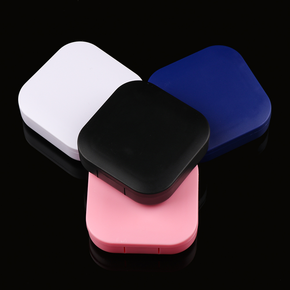 2020 New Unisex 1Pcs Travel Classic Portable Plastic Contact Lens Case For Men And Women Solid Color Container Holder Lenses Box