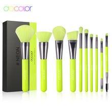 Docolor 10 шт набор неоновых кистей для макияжа синтетическая