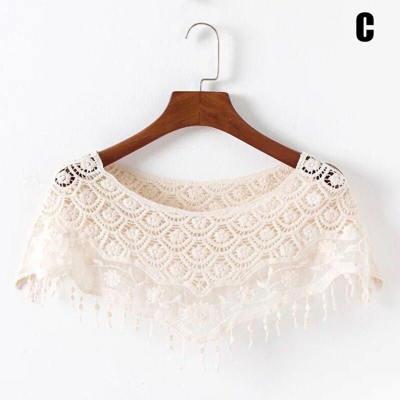 Women Vintage Crochet Knit Cape Lace Short Hollow Out Shawls Shrug Poncho TY66