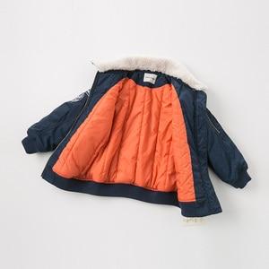 Image 4 - Dbk10691 데이브 벨라 겨울 아이 소년 재킷 면화 의류 어린이 겉옷 패션 해군 지퍼 코트