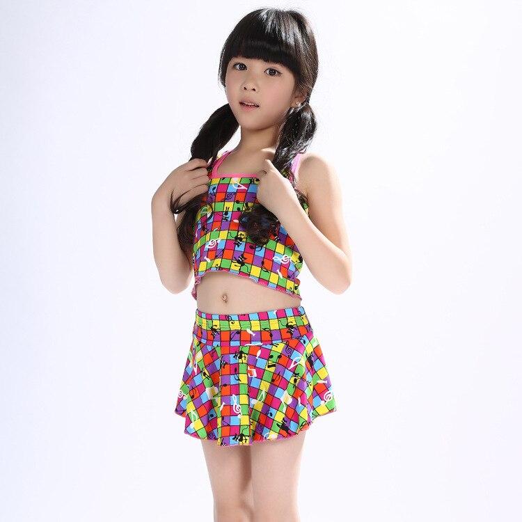 South Korea KID'S Swimwear Girls Cute Split Type Tour Bathing Suit Baby Girls Wish Skirt Big Kid 11-Year-Old Temperature Quan Yo